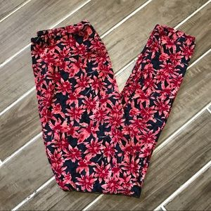 EUC LLR Floral Leggings